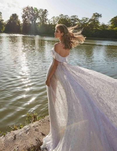 Galia Lahav Couture - Fancy White - Aretha-back