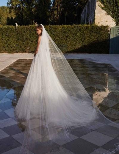 Galia Lahav Couture - Fancy White - Rosa-with-veil