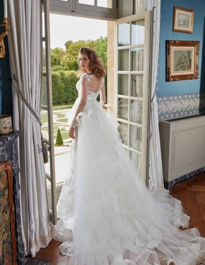 Galia Lahav Couture - Fancy White - Judy-back-with-cape