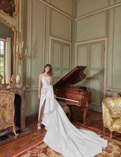 Galia Lahav Couture - Fancy White - Margaret-front