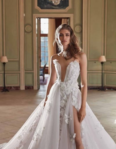 Galia Lahav Couture - Fancy White - Ruth-front-mid