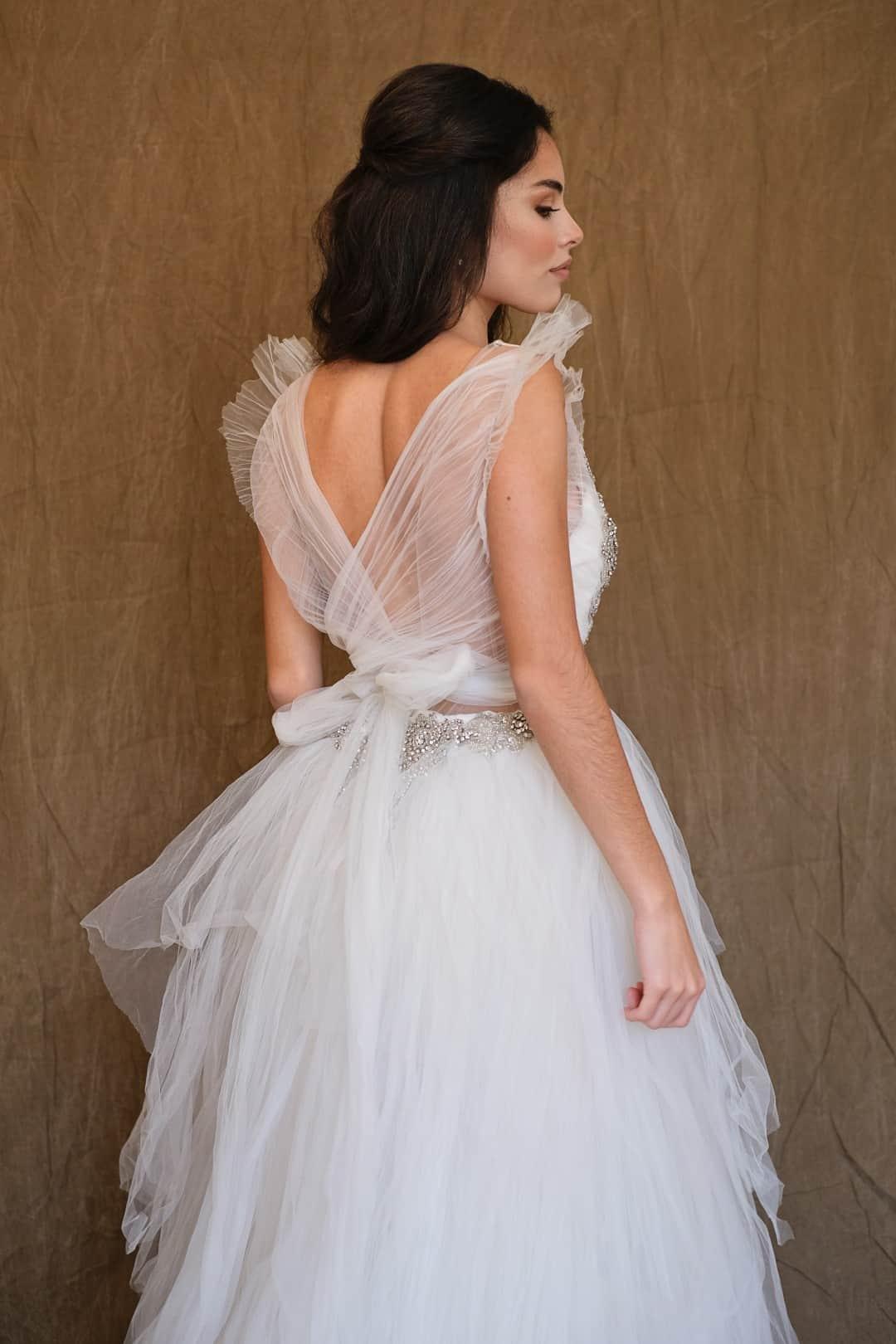 Jemné a romantické svadobné šaty - Marco&Maria - 14-1031-back