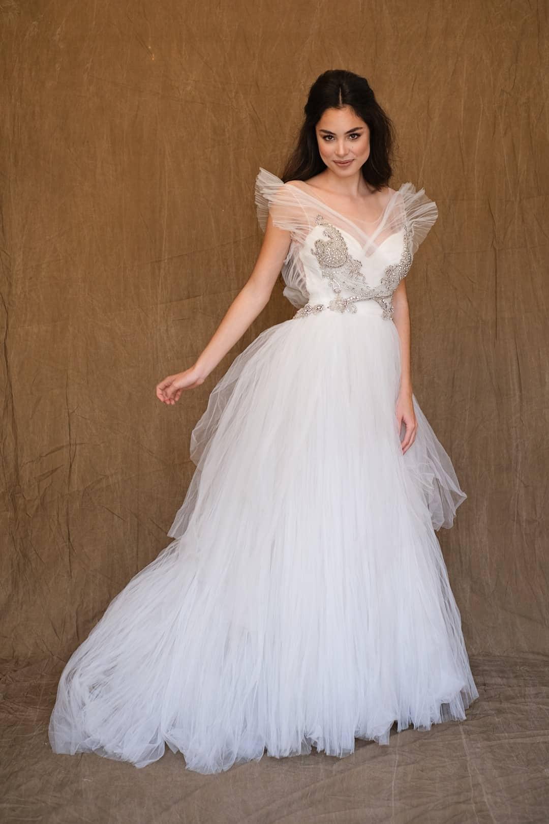 Jemné a romantické svadobné šaty - Marco&Maria - 14-1031-front