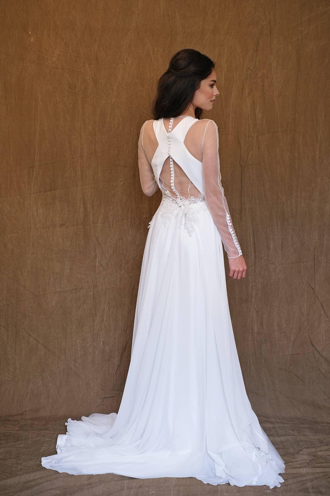 Bohémske svadobné šaty - Inmaculada Garcia - Kokoro - back