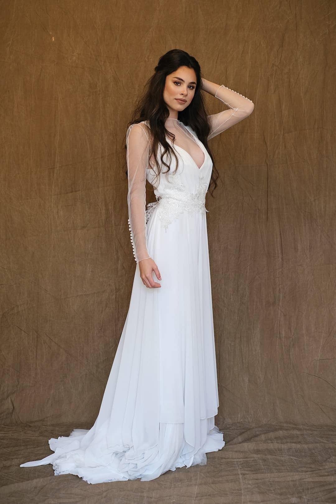 Bohémske svadobné šaty - Inmaculada Garcia - Kokoro - front