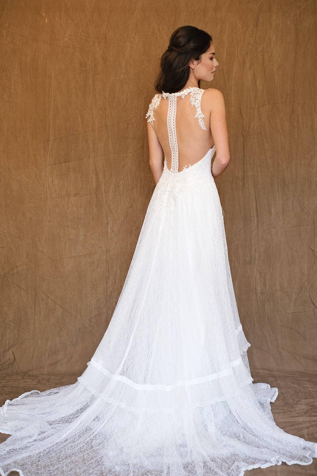 Bohémske svadobné šaty - Inmaculada Garcia - Ruri - back