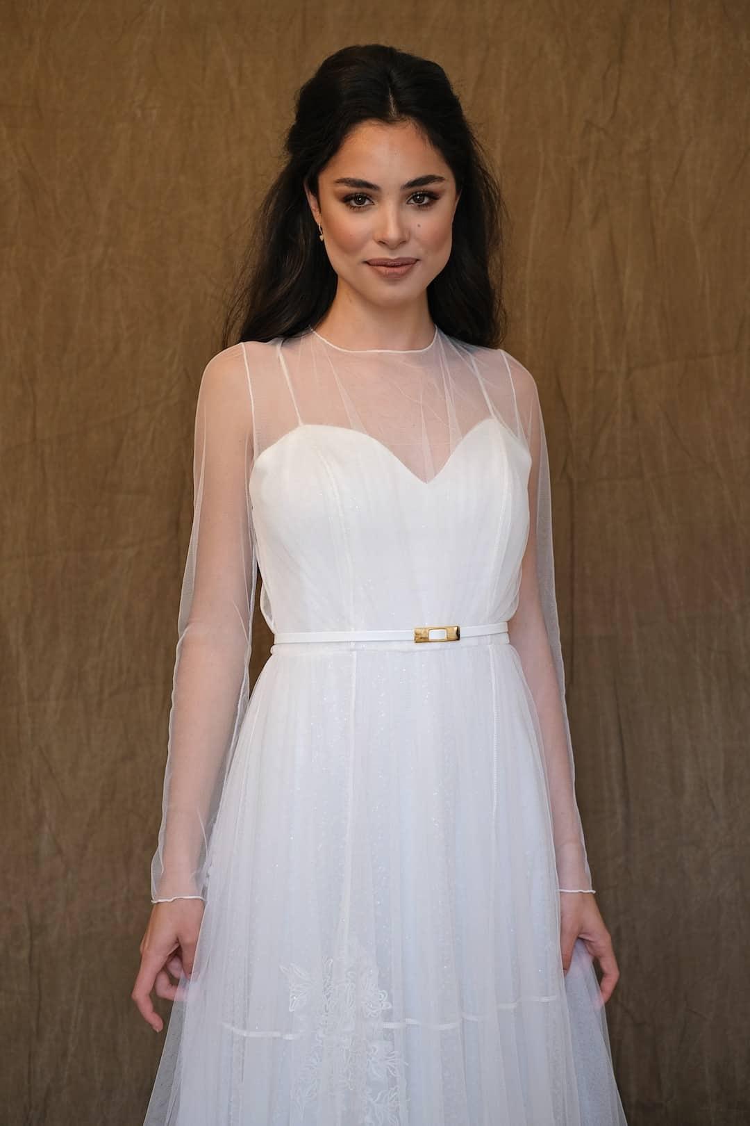 Bohémske svadobné šaty - Inmaculada Garcia - Saki - front-top