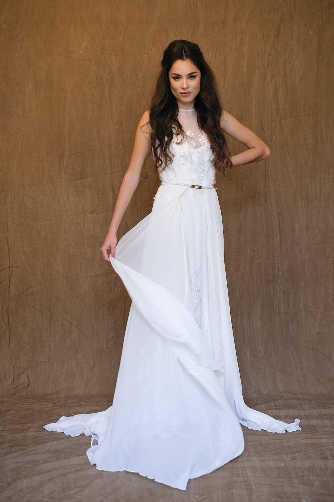 Bohémske svadobné šaty - Inmaculada Garcia - Shion - front