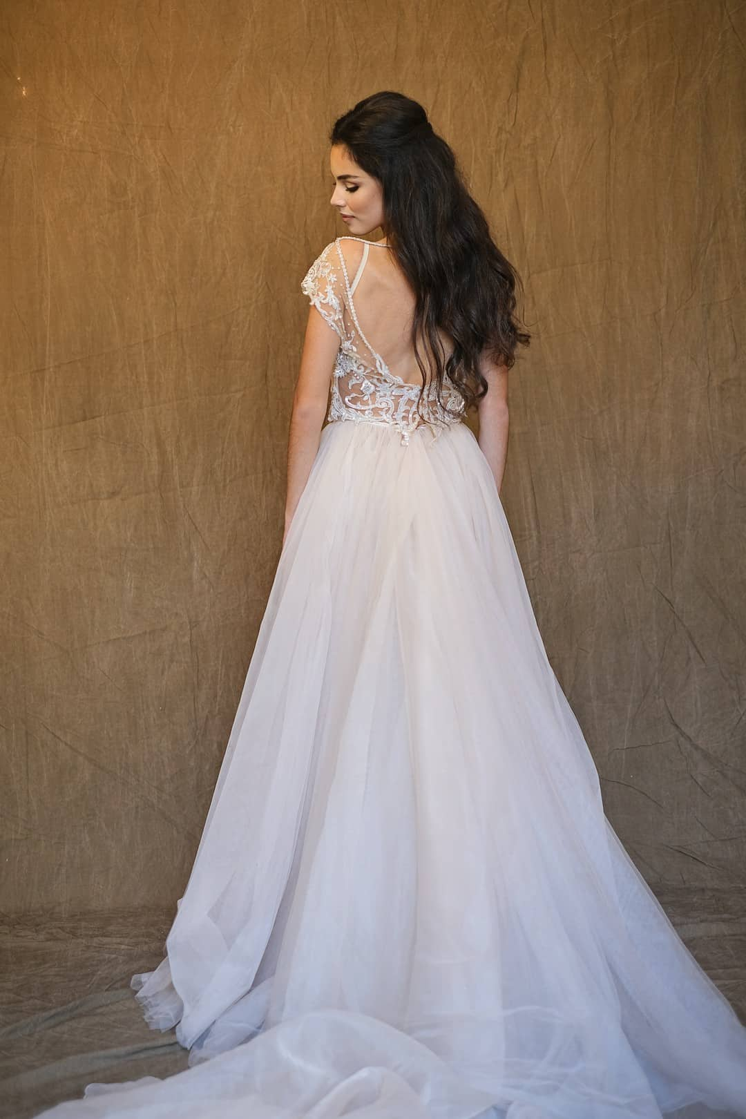 Haute couture svadobné šaty - Galia Lahav - Gala 607 - back