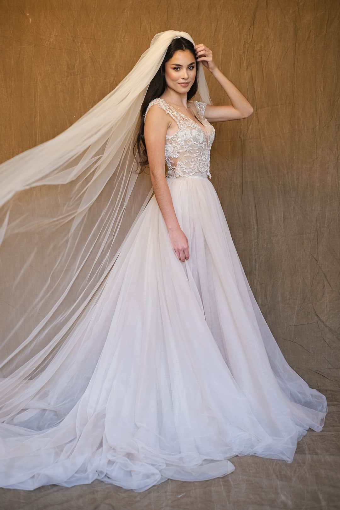 Haute couture svadobné šaty - Galia Lahav - Gala 607 - front