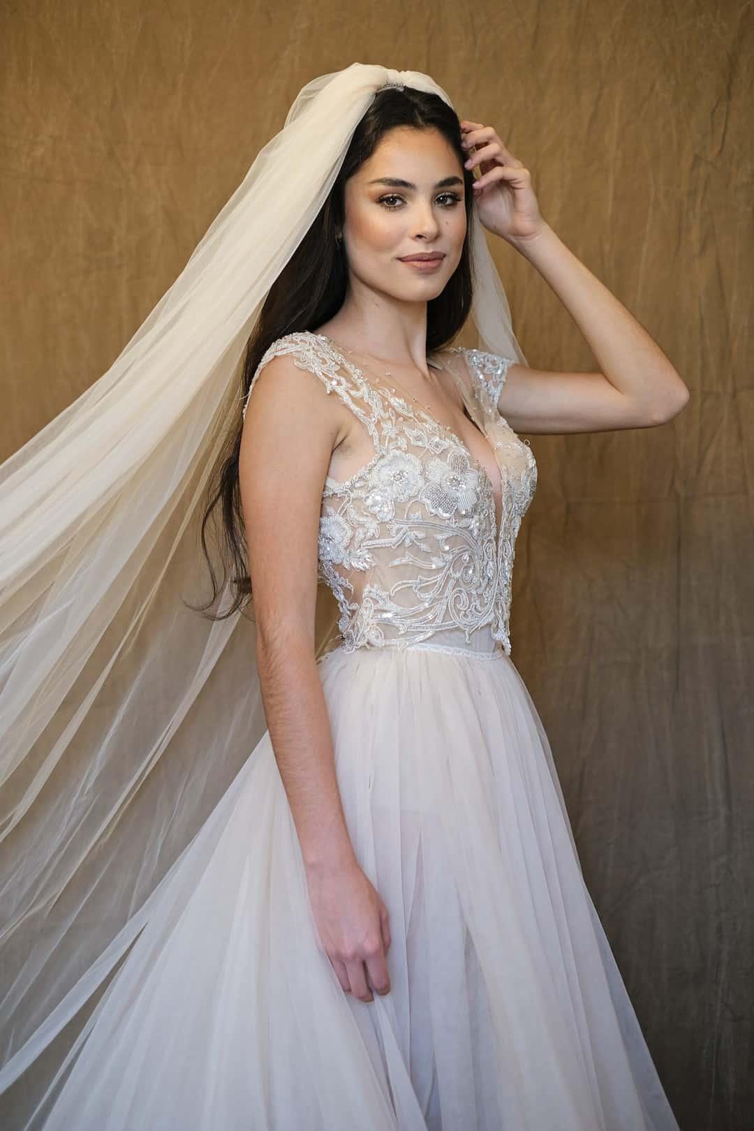 Haute couture svadobné šaty - Galia Lahav - Gala 607 - front_top