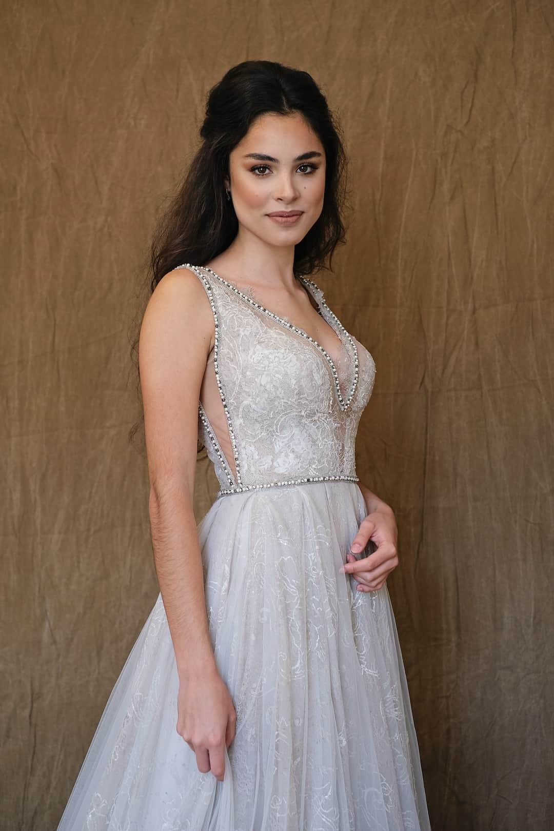Haute couture svadobné šaty - Galia Lahav - Gala 710 - front_top