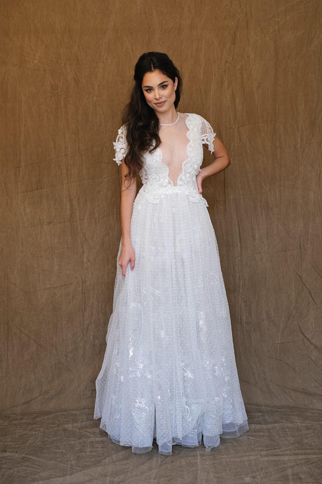 Romantic wedding dress - Marco&Maria - 2017-1007-front
