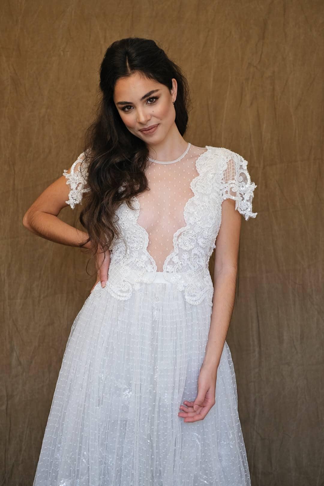Romantic wedding dress - Marco&Maria - 2017-1007- front_top