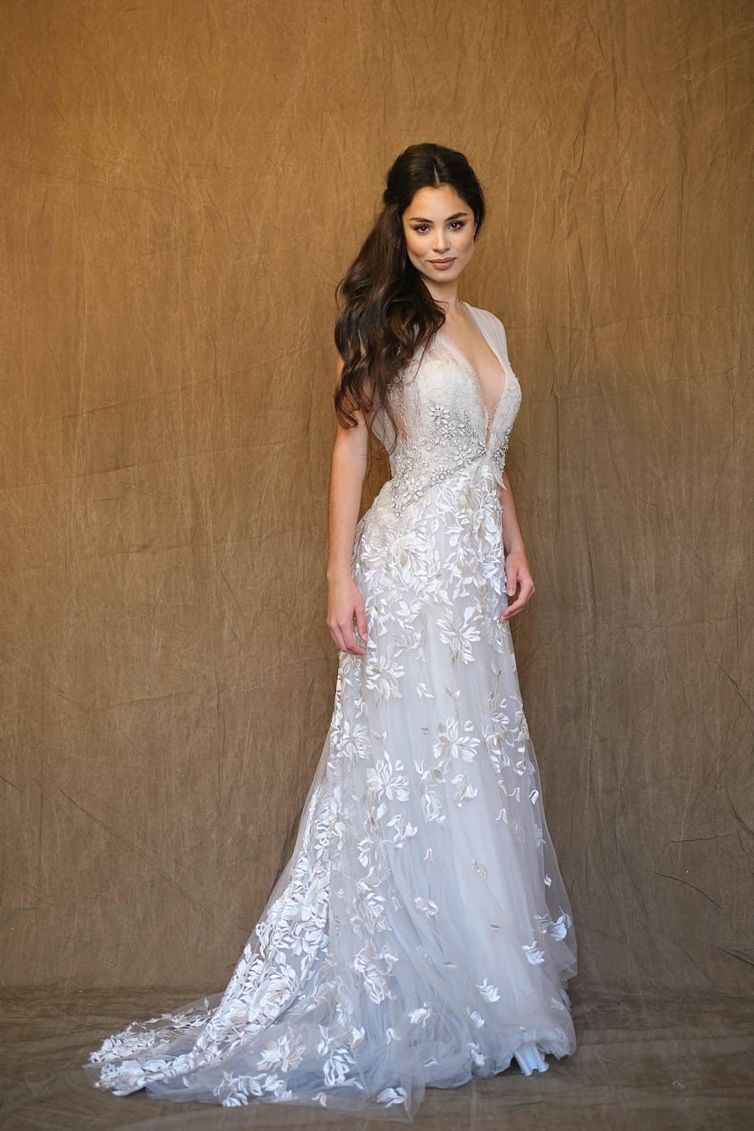 Romantic wedding dress - Marco&Maria - 2017-1017- front