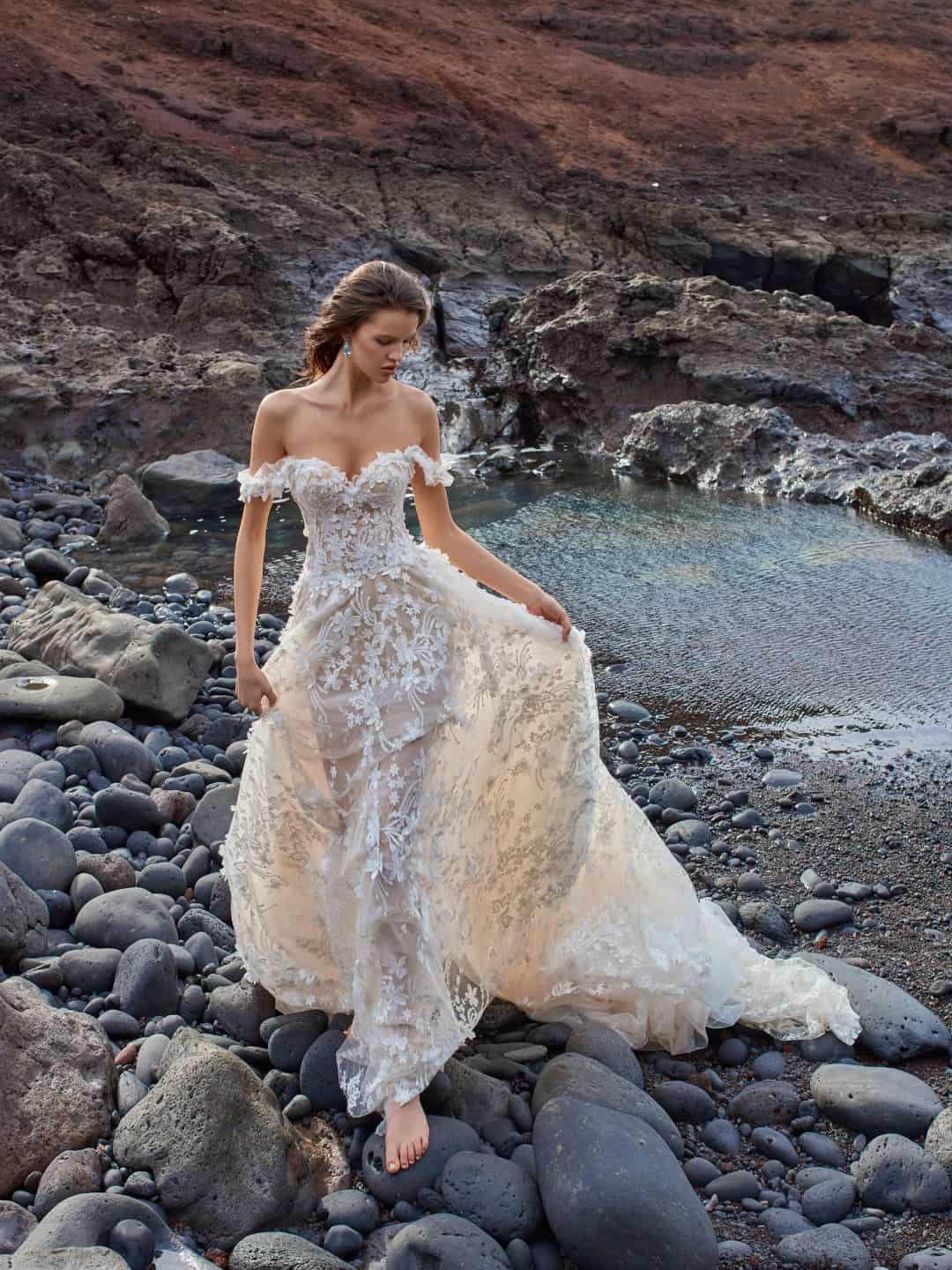 Haute Couture Wedding Dresses - GALA-1010-front