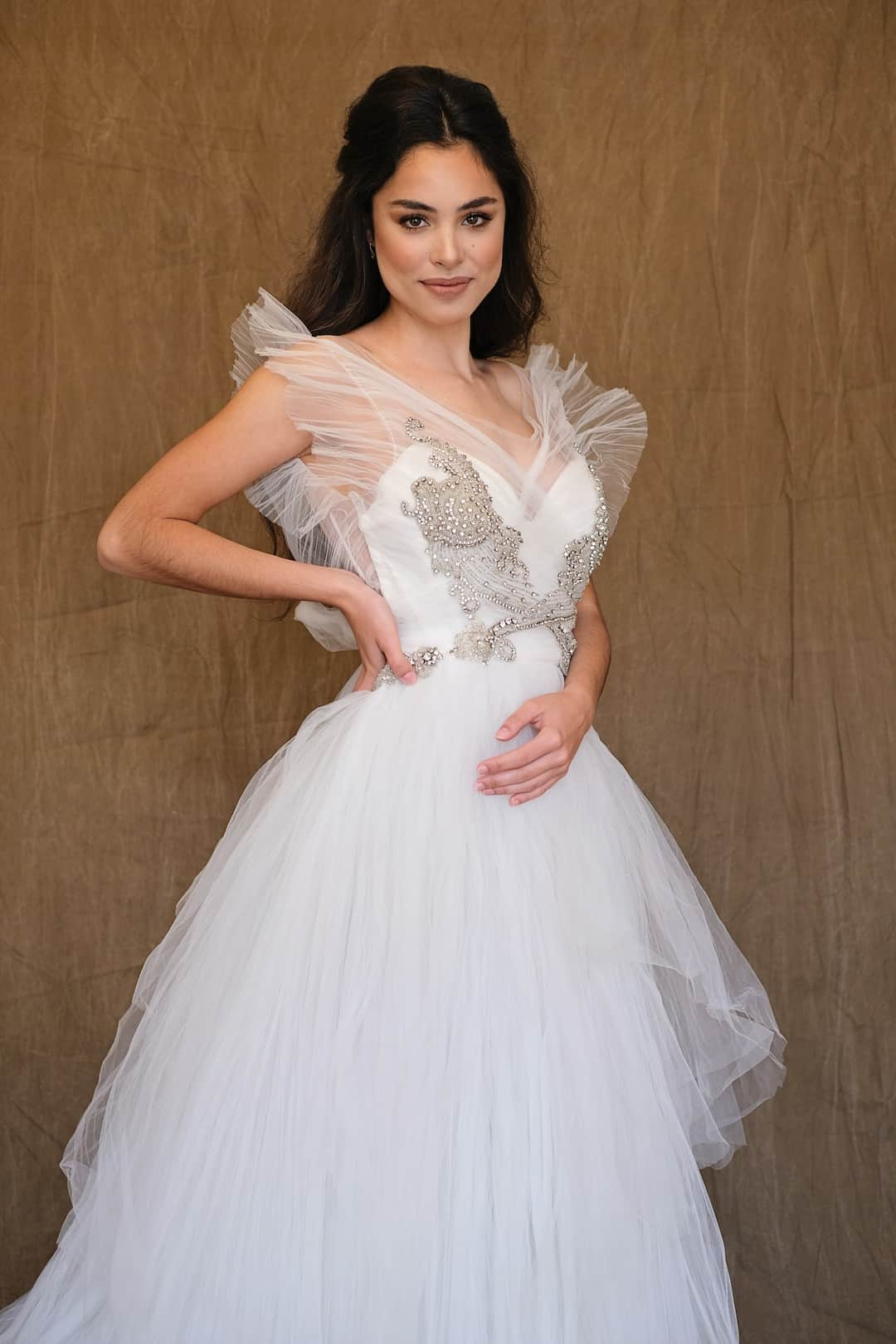 Romantisches Hochzeitskleid - Marco&Maria - 14-1031-front-top