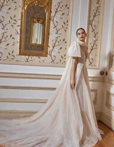 Galia Lahav Couture - Dancing Queen - Celeste-w-cape