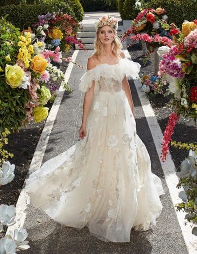 Galia Lahav Couture - Folrence by Night - Casablanca Lily front 2