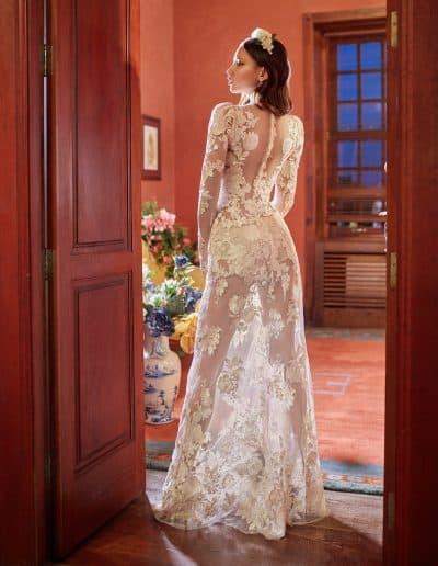 Galia Lahav Couture - Folrence by Night - Cherry Blossom back