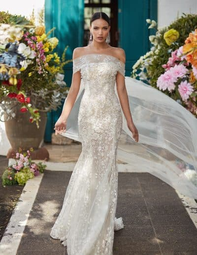 Galia Lahav Couture - Folrence by Night - Juniper front 2