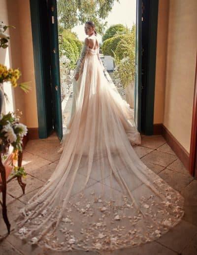 Galia Lahav Couture - Folrence by Night - Magnolia back + train