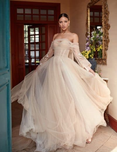 Galia Lahav Couture - Folrence by Night - Magnolia front