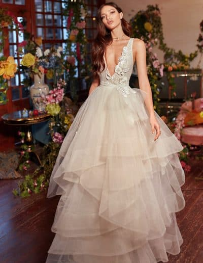 Galia Lahav Couture - Folrence by Night - Mila front