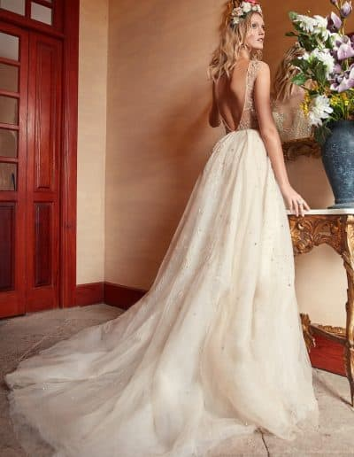 Galia Lahav Couture - Folrence by Night - Rose Water back 2