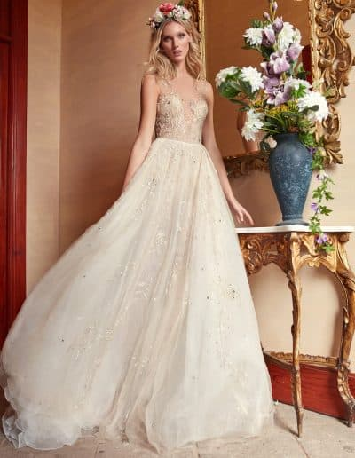 Galia Lahav Couture - Folrence by Night - Rose Water front
