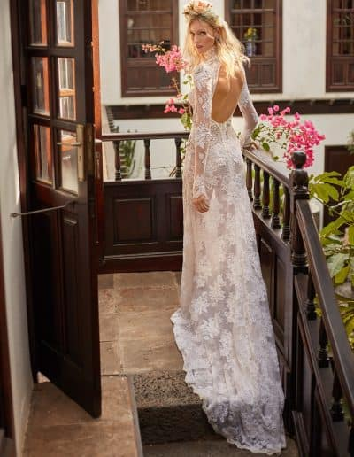 Galia Lahav Couture - Folrence by Night - Snow in Summer back