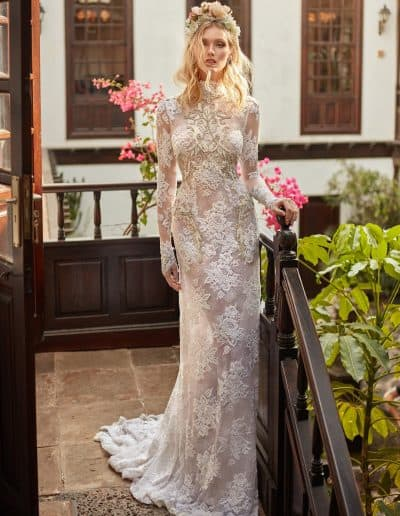 Galia Lahav Couture - Folrence by Night - Snow in Summer front long