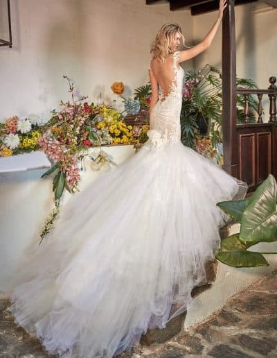 Galia Lahav Couture - Folrence by Night - Zenia back side