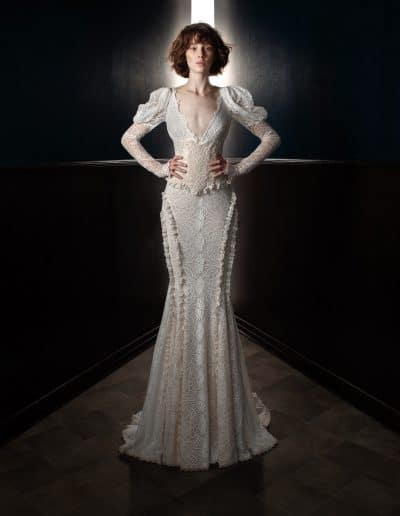 Galia Lahav Couture - Victorian Affinity - Charlie and Dolly Belt Front
