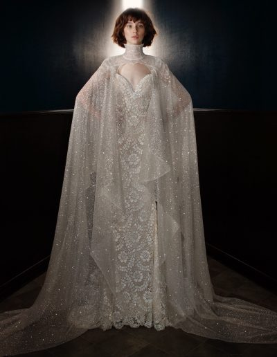 Galia Lahav Couture - Victorian Affinity - Rayne with Sterling Cape