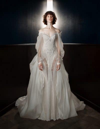 Galia Lahav Couture - Victorian Affinity - Thelma with Ossie Train Front