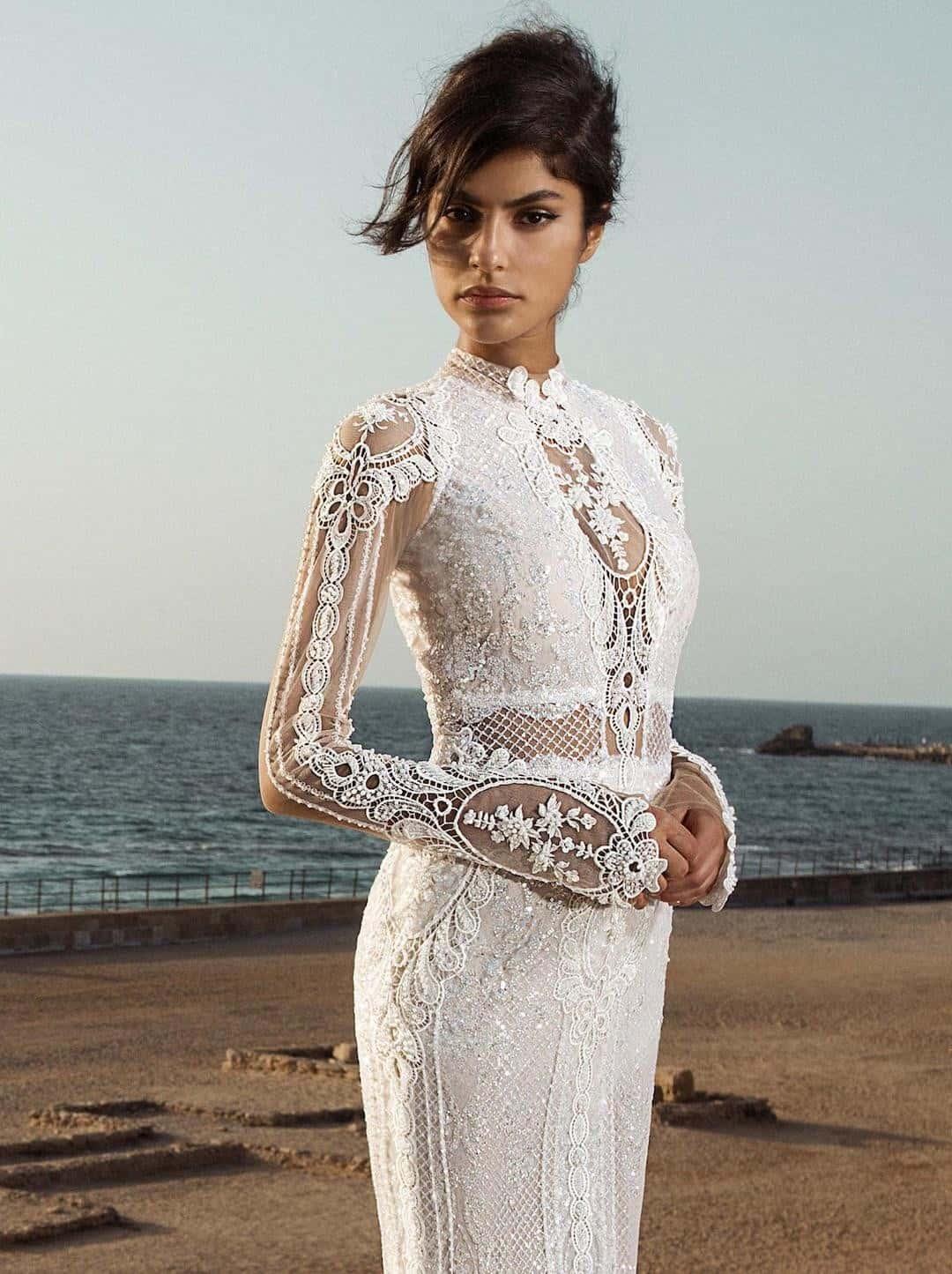 Haute Couture esküvöi ruhák - Gala-805-front