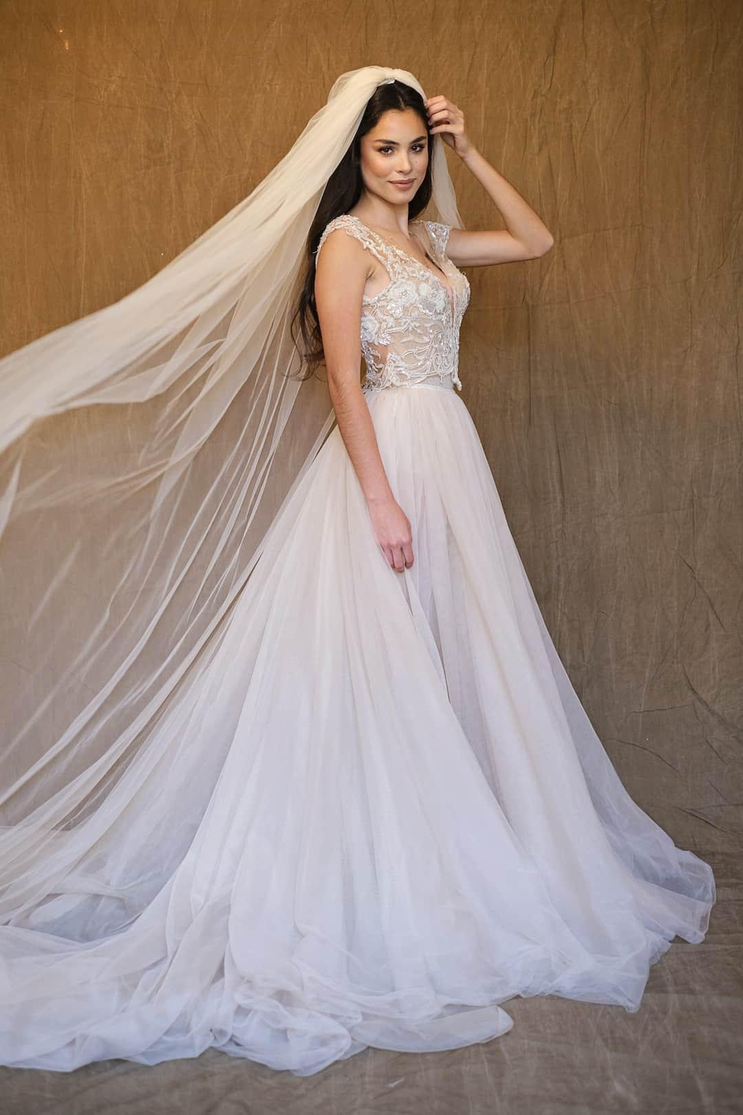 Haute Couture esküvöi ruhák - Galia Lahav - Gala 607 - front