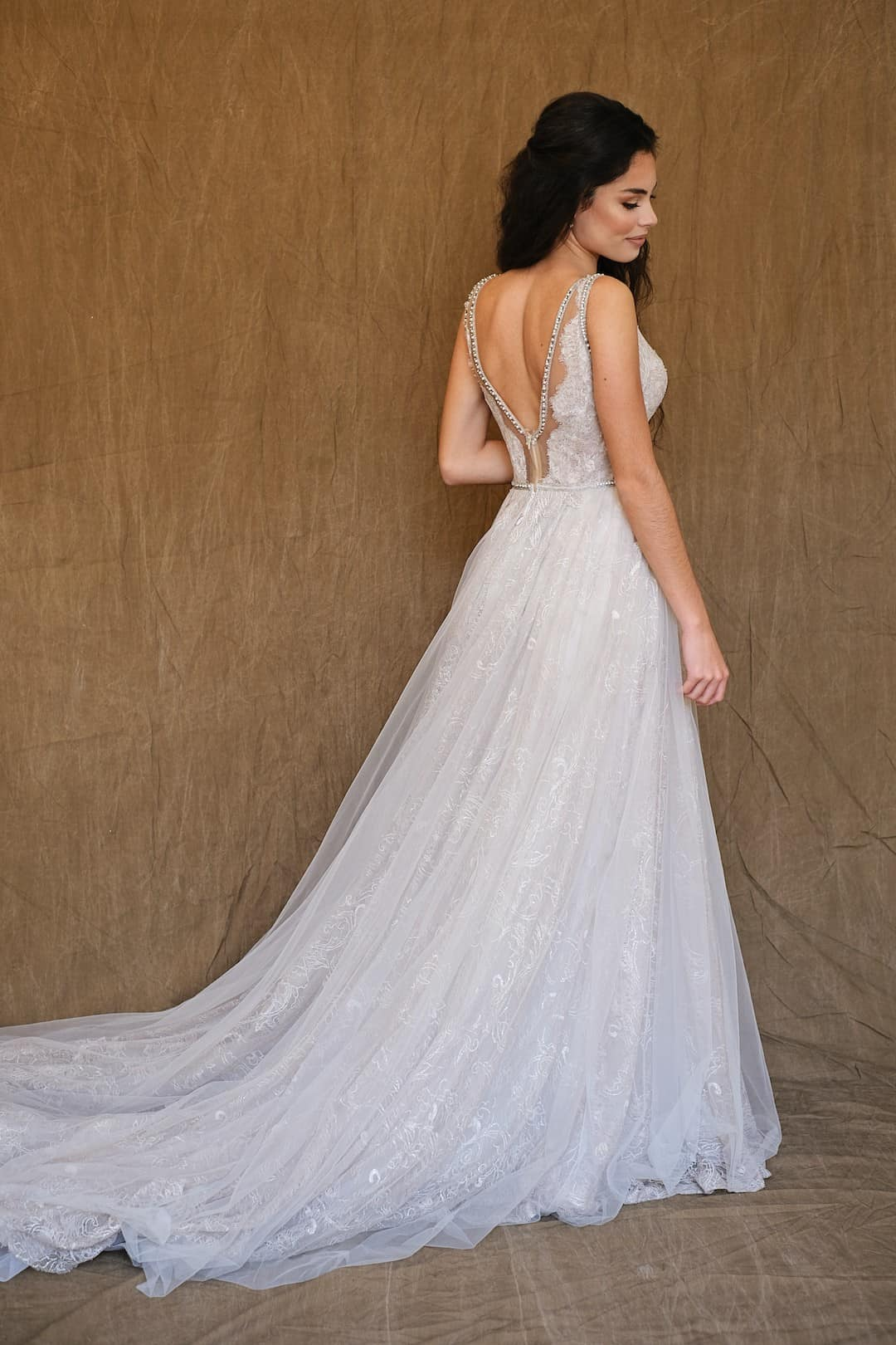 Haute Couture esküvöi ruhák - Galia Lahav - Gala 711 - back